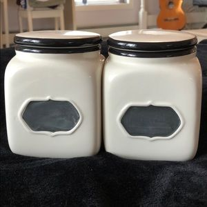 Set of 2 glass containers